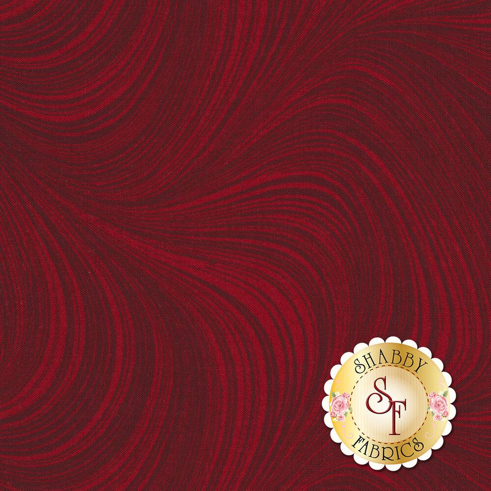 Tonal red wave texture fabric   Shabby Fabrics