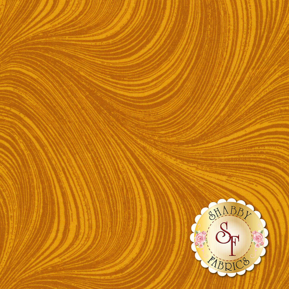 Wave Texture 2966-32 Amber by Jackie Robinson for Benartex Fabrics