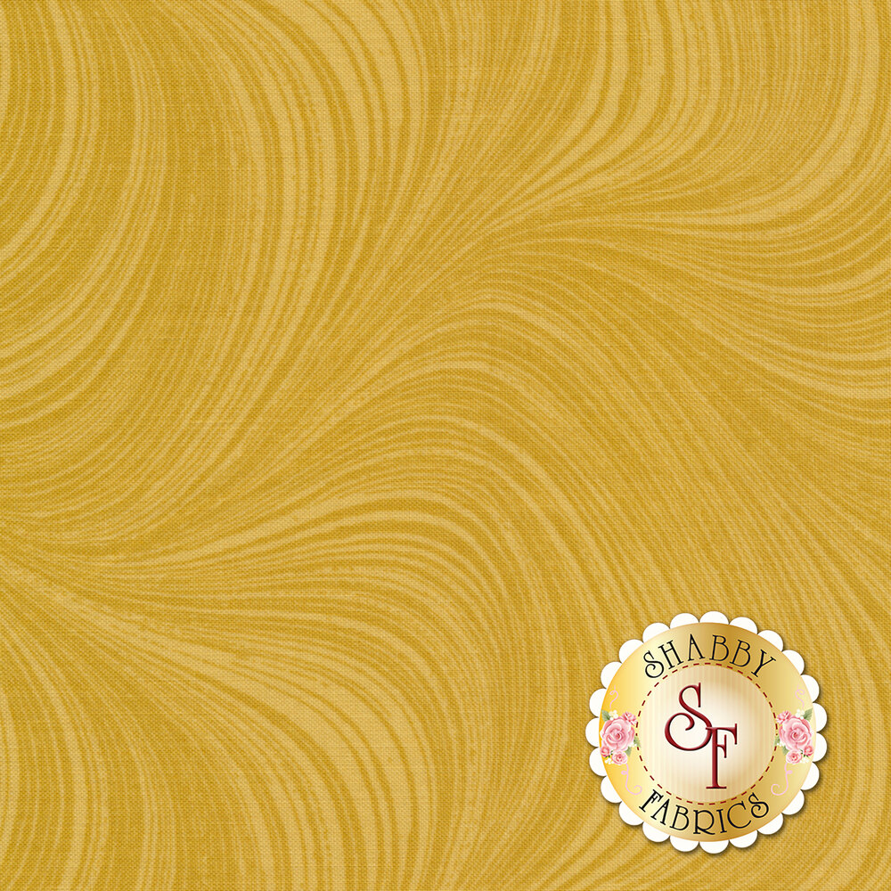 Wave Texture 2966-33 Gold by Jackie Robinson for Benartex Fabrics