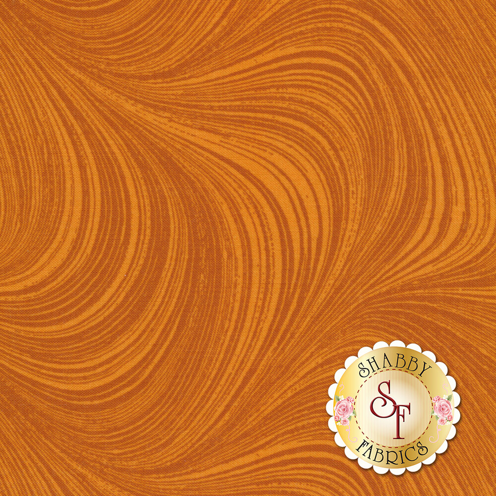 Wave Texture 2966-38 Pumpkin by Jackie Robinson by Benartex Fabrics