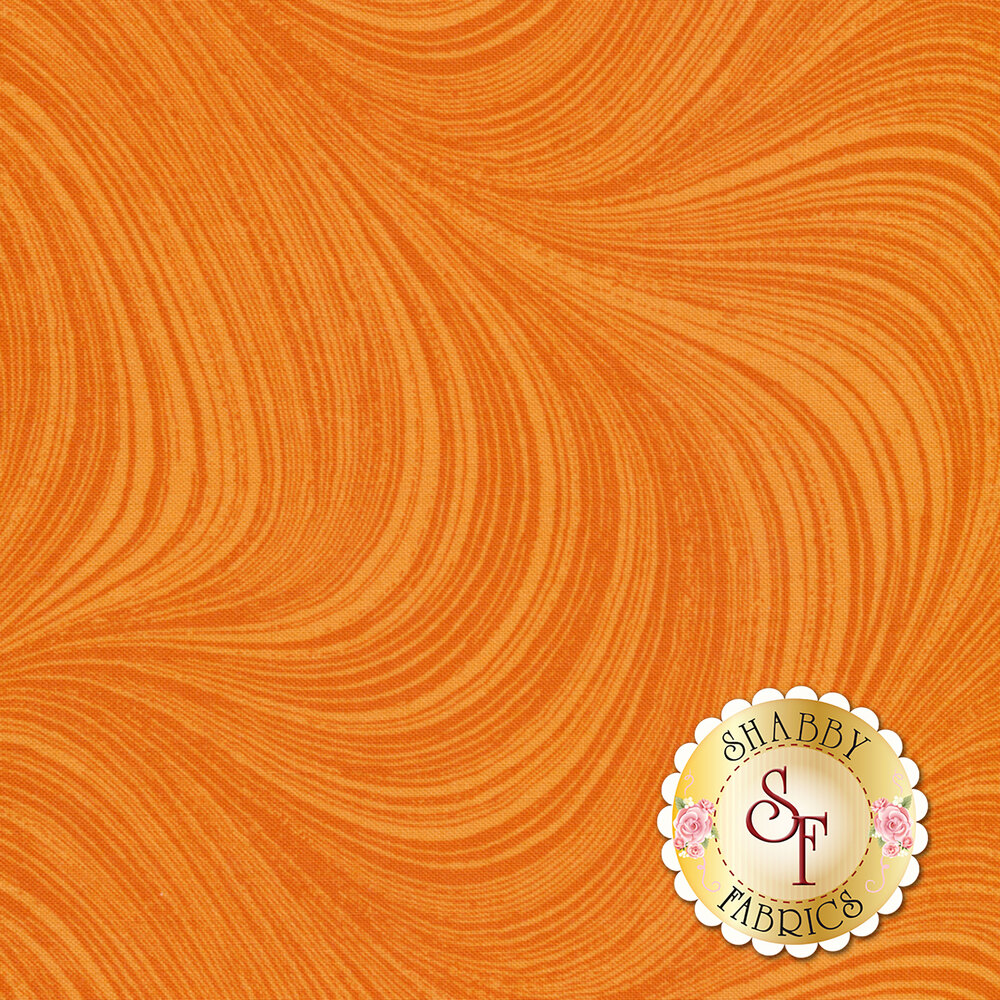 Wave Texture 2966-39 Tangerine by Jackie Robinson for Benartex Fabrics