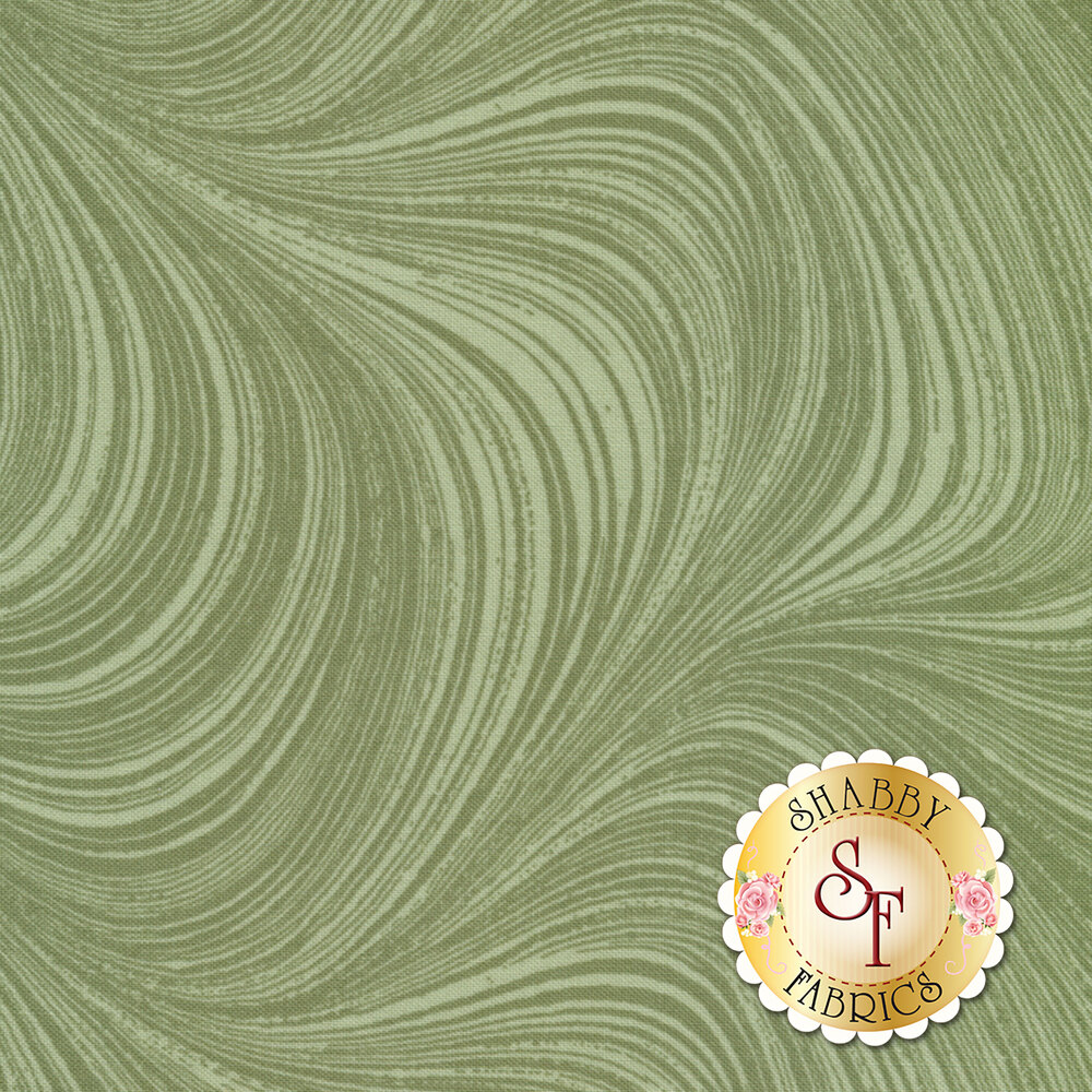 Wave Texture 2966-42 Green by Jackie Robinson by Benartex Fabrics