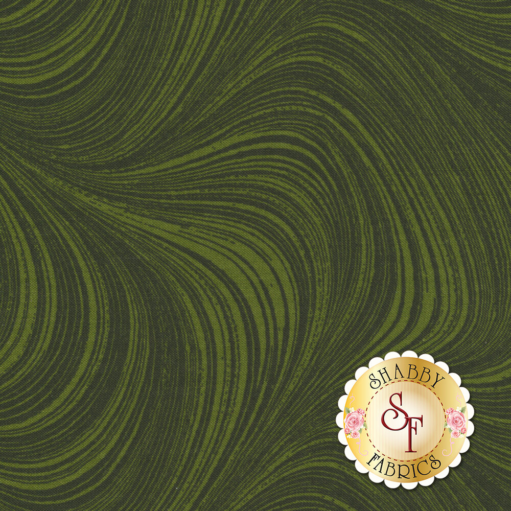 Wave Texture 2966-44 Dark Green by Jackie Robinson for Benartex Fabrics