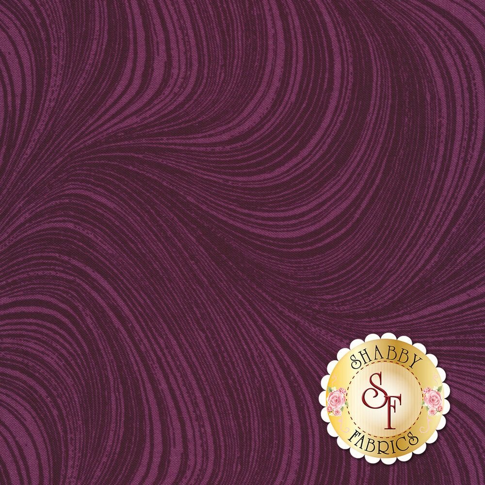 Wave Texture 2966-63 Plum by Jackie Robinson by Benartex Fabrics