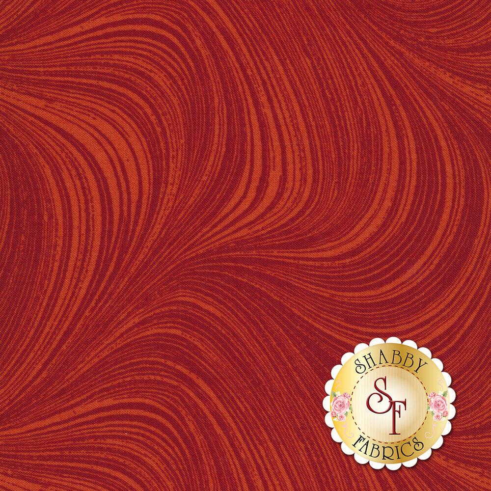 Wave Texture 2966-79 Paprika by Jackie Robinson by Benartex Fabrics