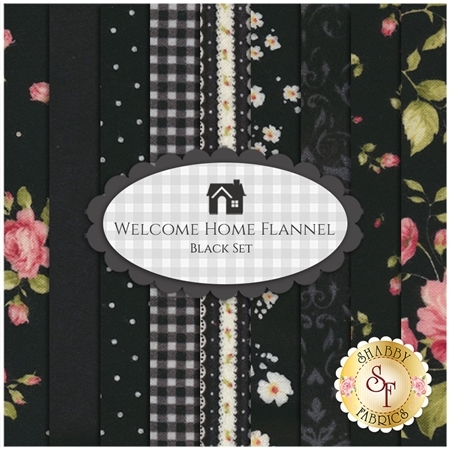 Welcome Home Flannel    9 Half Yard Set - Black Set by Jennifer Bosworth for Maywood Studio