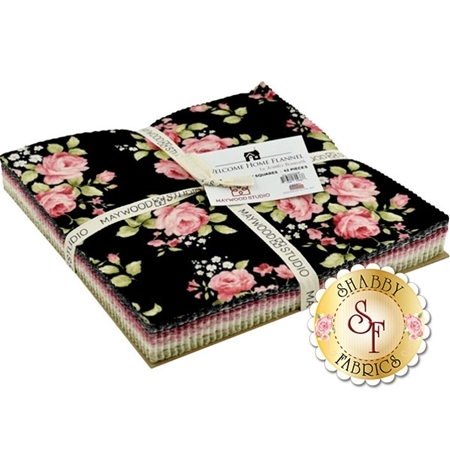 """Welcome Home Flannel  10"""" Squares by Jennifer Bosworth for Maywood Studio"""