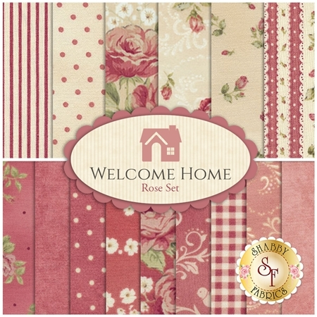 Welcome Home Collection One  15 FQ Set - Rose Set by Jennifer Bosworth for Maywood Studio Fabrics