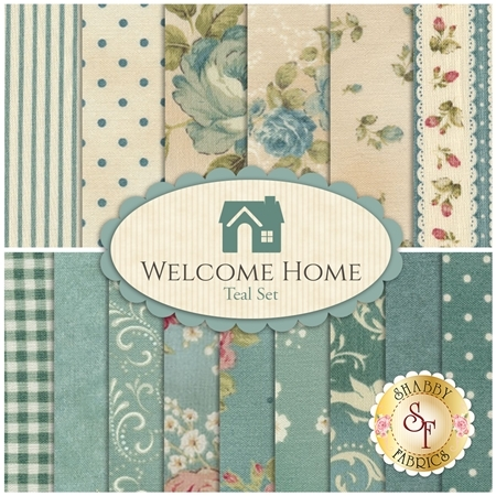 Welcome Home Collection One  15 Half Yard Set - Teal Set by Jennifer Bosworth for Maywood Studio Fabrics
