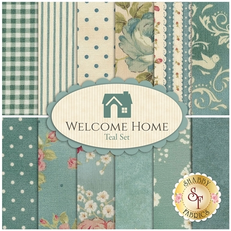 Welcome Home Collection One  12 Half Yard Set - Teal Set by Jennifer Bosworth for Maywood Studio Fabrics