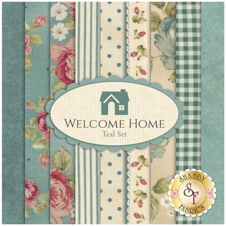 Welcome Home Collection One  9 Half Yard Set - Teal Set by Jennifer Bosworth for Maywood Studio Fabrics
