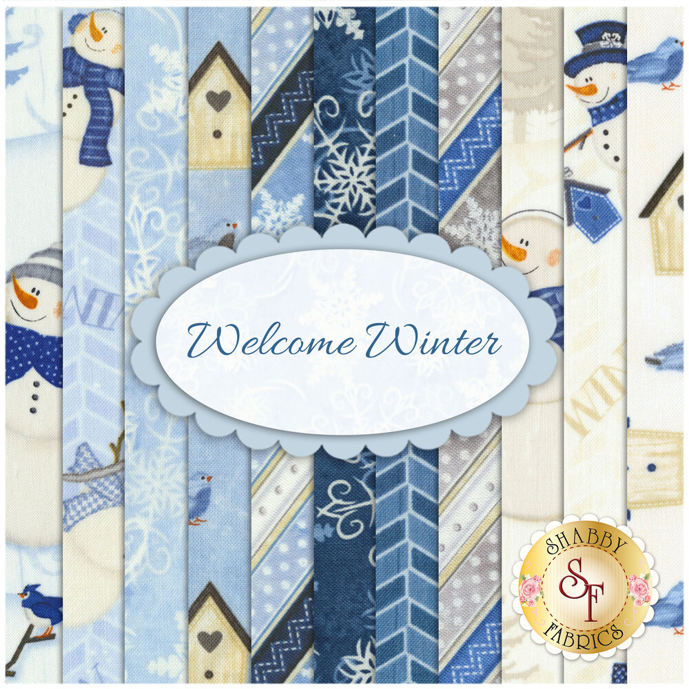 Welcome Winter  11 FQ Set for Wilmington Prints