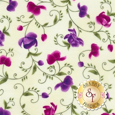 Wild Orchid C5432-Cream by Timeless Treasures Fabrics