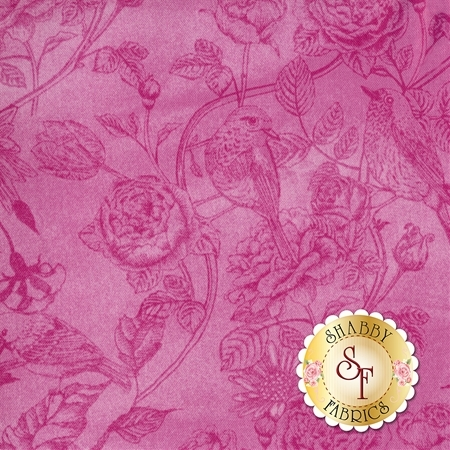 Wild Orchid C5551-Pink by Timeless Treasures Fabric