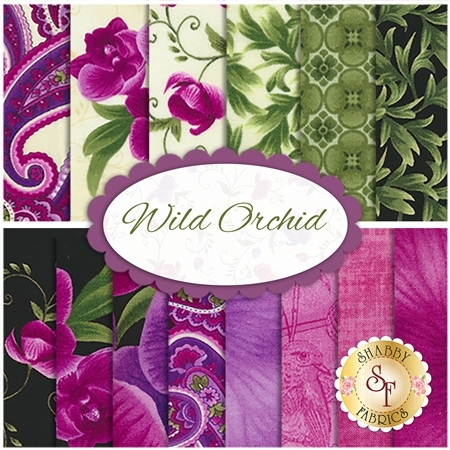 Wild Orchid  14 FQ Set by Timeless Treasures Fabrics