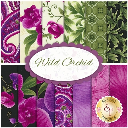 Wild Orchid  13 FQ Set by Timeless Treasures Fabrics