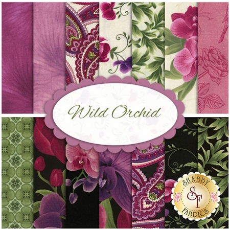 Wild Orchid  Yardage by Chong-a Hwang for Timeless Treasures Fabrics