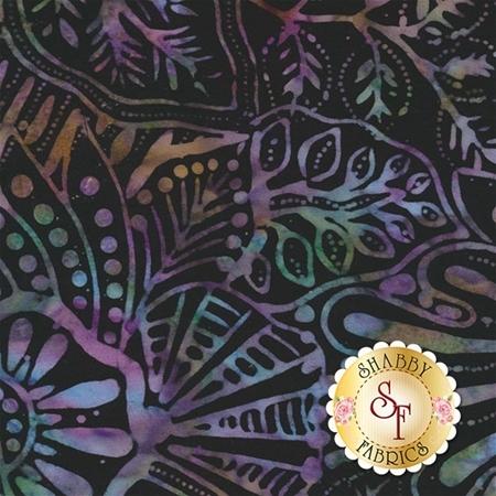 Wilmington Batiks 22150-967 Large Floral Black/Multi by Wilmington Prints