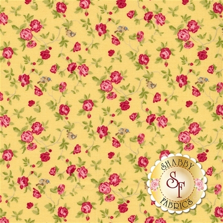 Windermere 18611-12 Soft Yellow by Brenda Riddle for Moda Fabrics