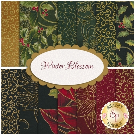 Winter Blossom  14 FQ Set by Hoffman Fabrics