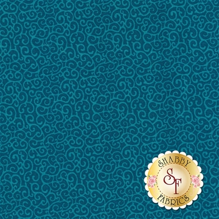 Winter Frost 24460-Q Teal by Gail Flores from Quilting Treasures