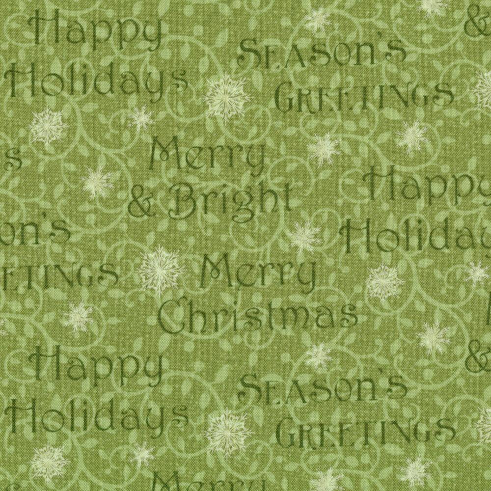 Winter Greetings 4217-66 Words for Studio E Fabrics