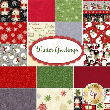 Winter Greetings  Yardage by Studio E Fabrics
