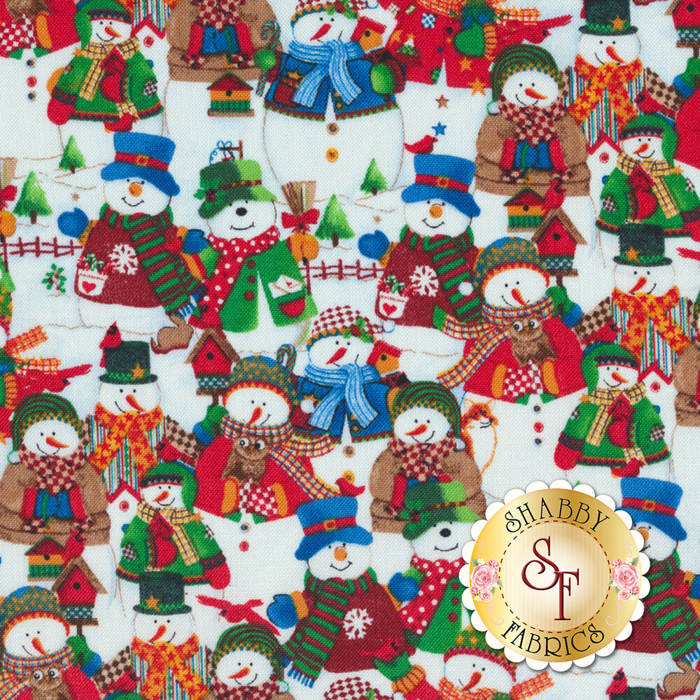 Winter Wishes 50257-X Multi Packed Snowmen by Windham Fabrics from Whistler Studios