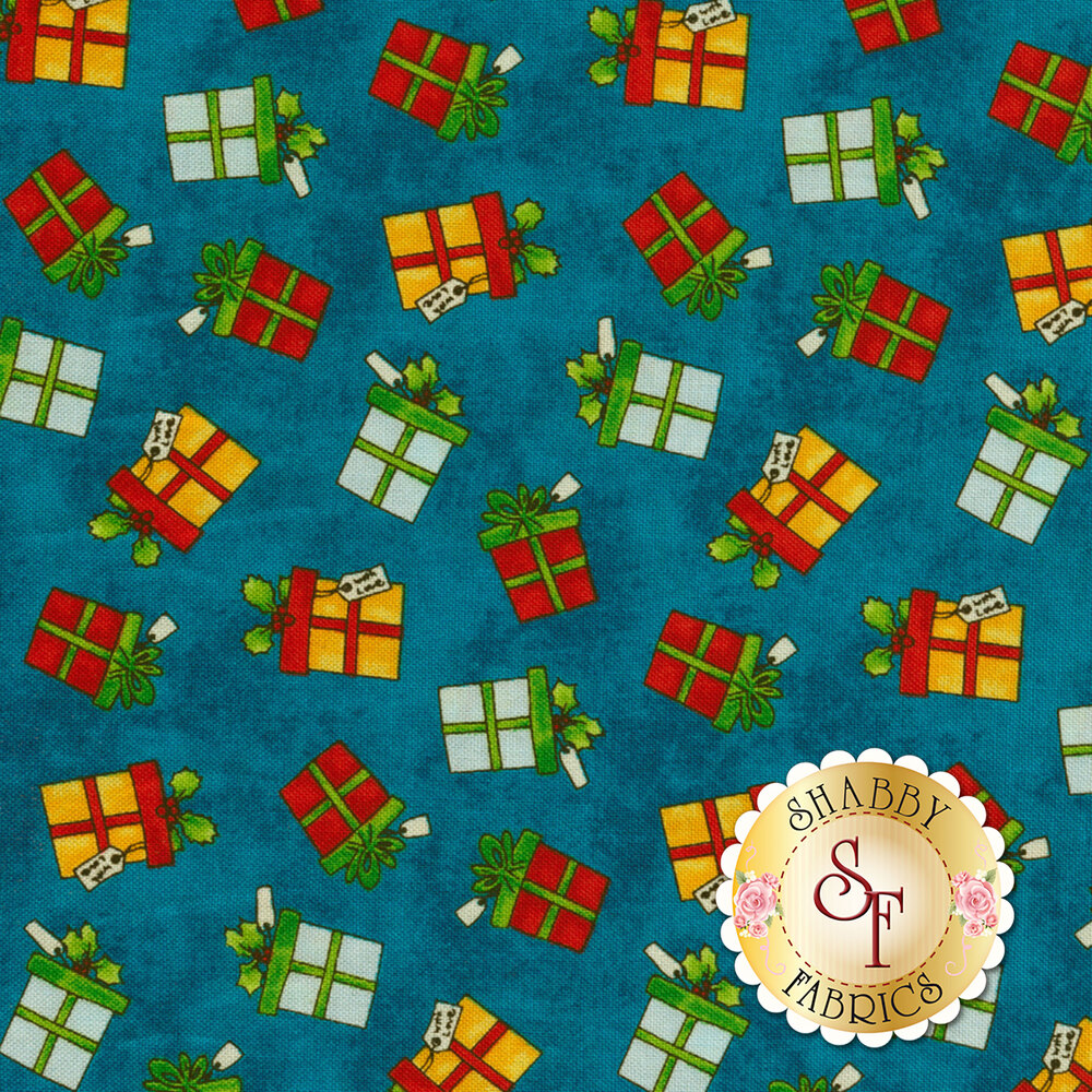 Winter Wishes 50258-1 Deep Blue Gifts by Windham Fabrics from Whistler Studios
