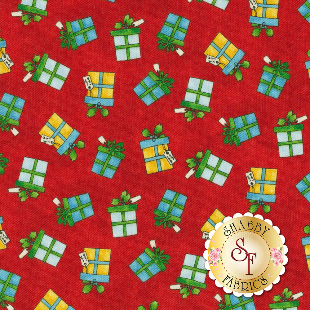 Winter Wishes 50258-3 Red Gifts by Windham Fabrics from Whistler Studios