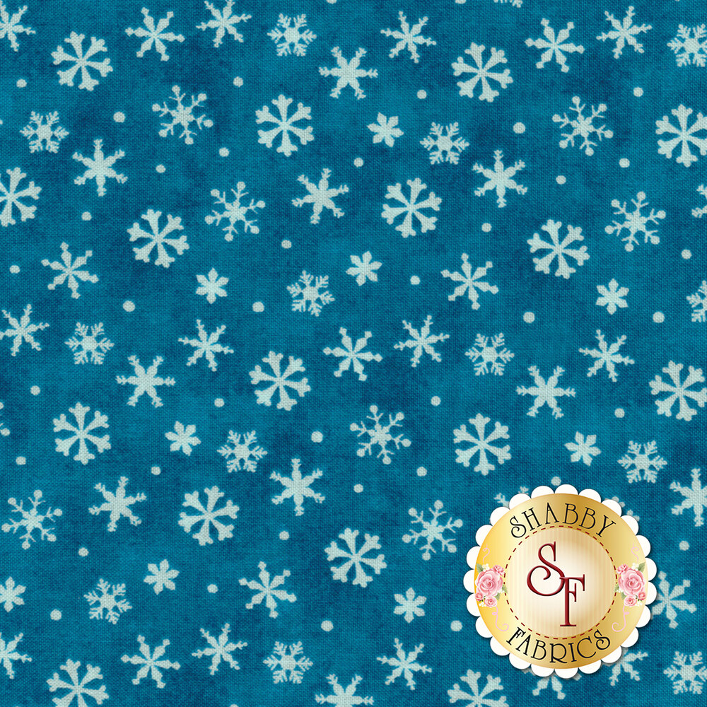 Winter Wishes 50260-1 Deep Blue Snowflakes by Windham Fabrics from Whistler Studios