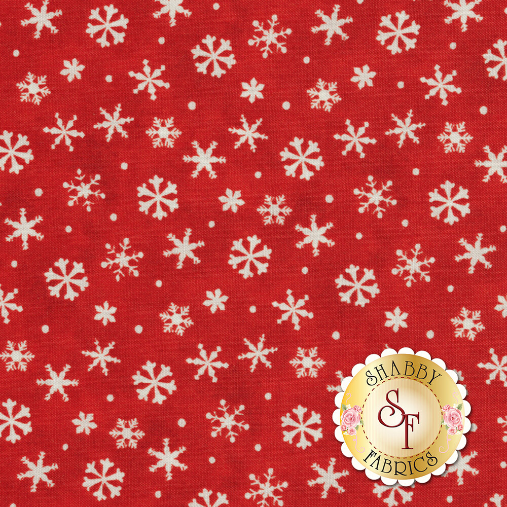 Winter Wishes 50260-3 Red Snowflakes by Windham Fabrics by Whistler Studios
