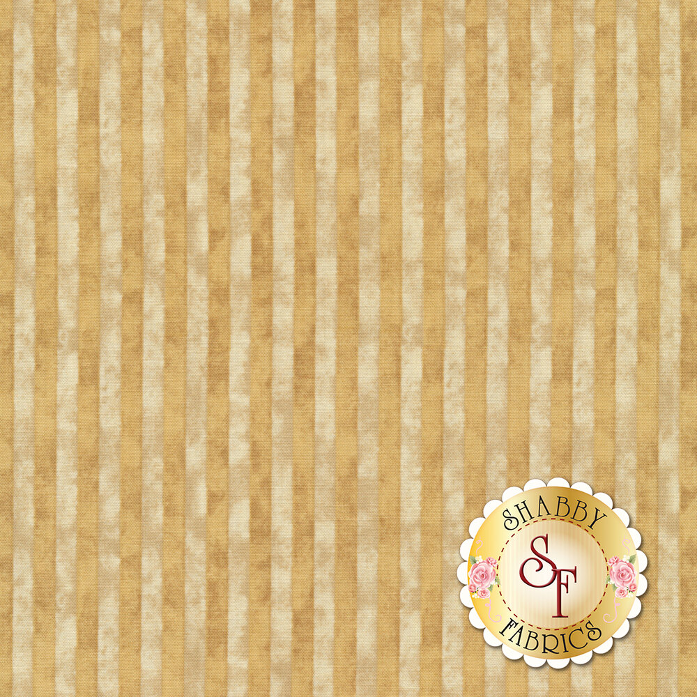 Tonal cream and light tan stripes with a distressed look | Shabby Fabrics