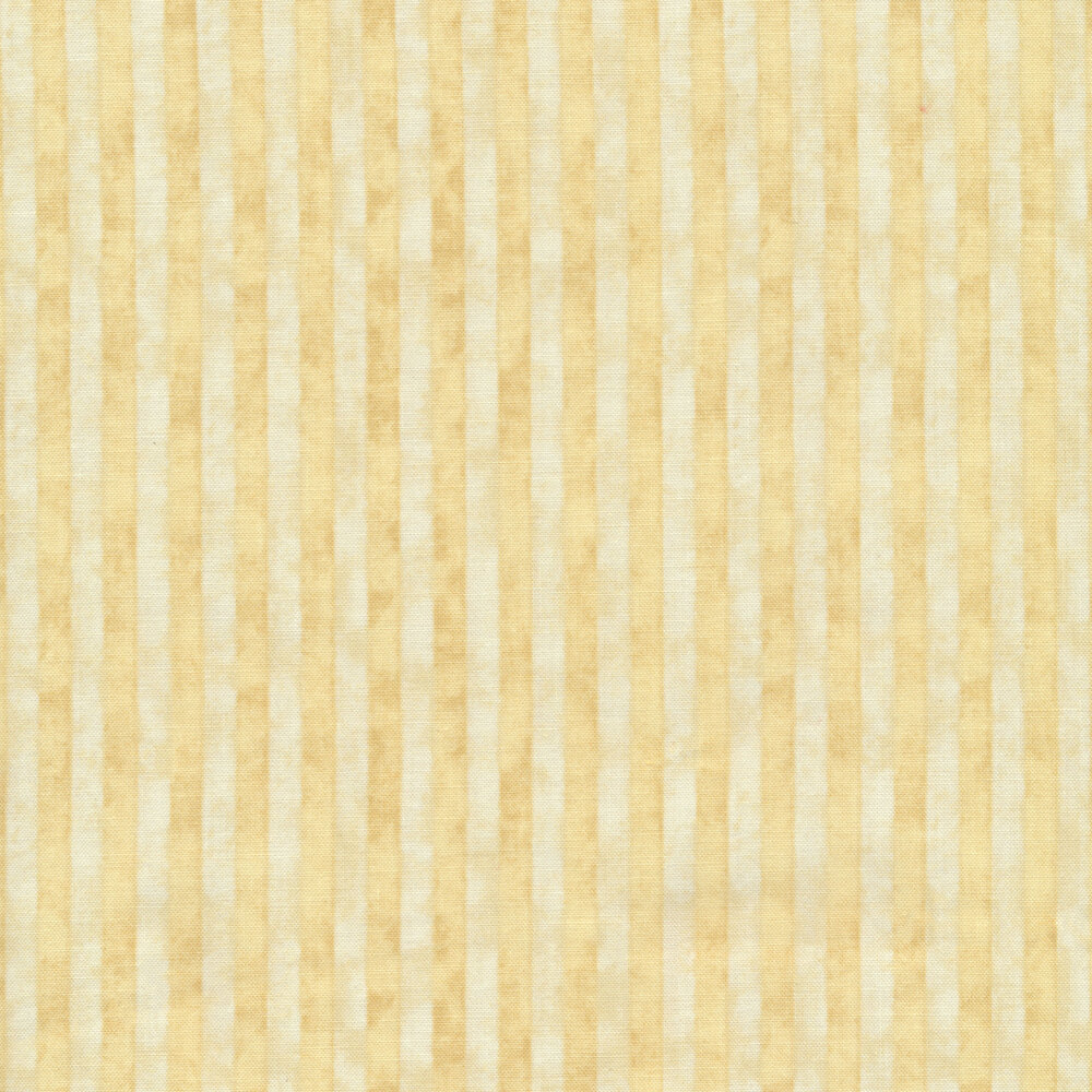 Tonal cream and white striped fabric with a distressed look | Shabby Fabrics