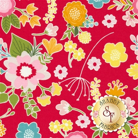 Wistful Winds C5440-RED by Doohikey Designs for Riley Blake Designs