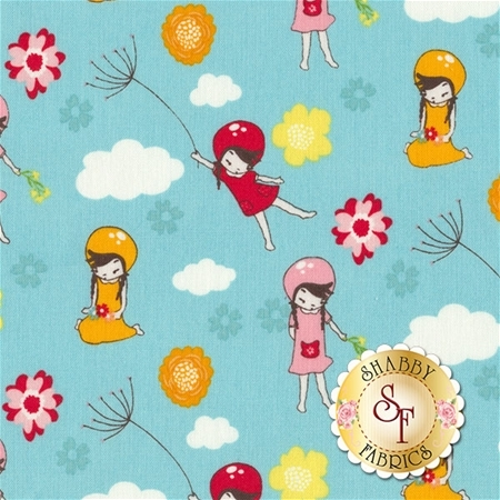 Wistful Winds C5441-BLUE by Doohikey Designs for Riley Blake Designs