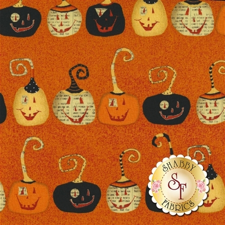 Witchy 3702-33  Pumpkins by Studio E Fabrics