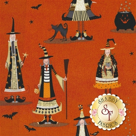 Witchy 3705-33 Allover Witch by Studio E Fabrics