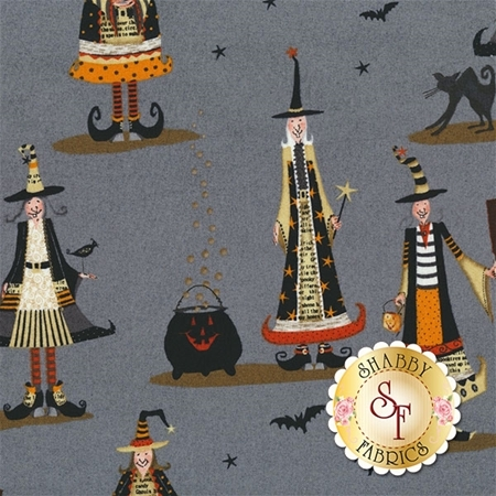 Witchy 3705-90 Allover Witch by Studio E Fabrics