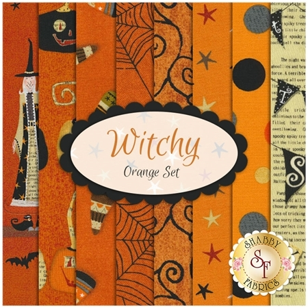 Witchy  8 FQ Set - Orange Set  by Studio E Fabrics