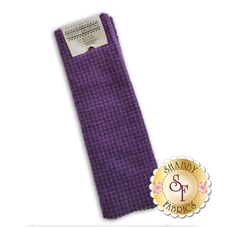 Hand Dyed Wool PRI 5050 Wood Violet Houndstooth by Primitive Gatherings for Moda Fabrics