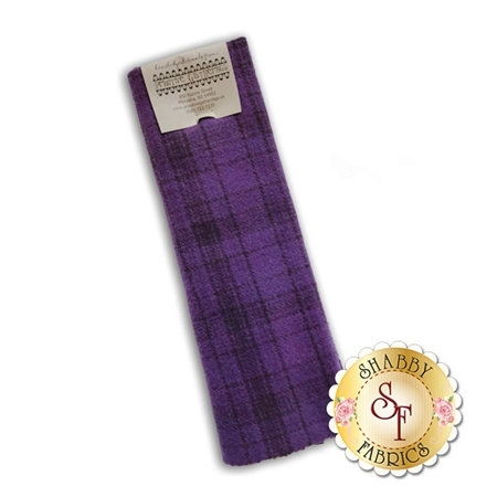 Hand Dyed Wool PRI 5051 Wood Violet Plaid by Primitive Gatherings for Moda Fabrics