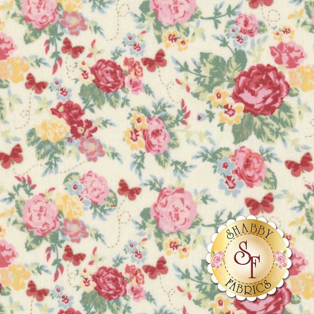 Woodland Rose 31800-10 for Lecien Fabrics