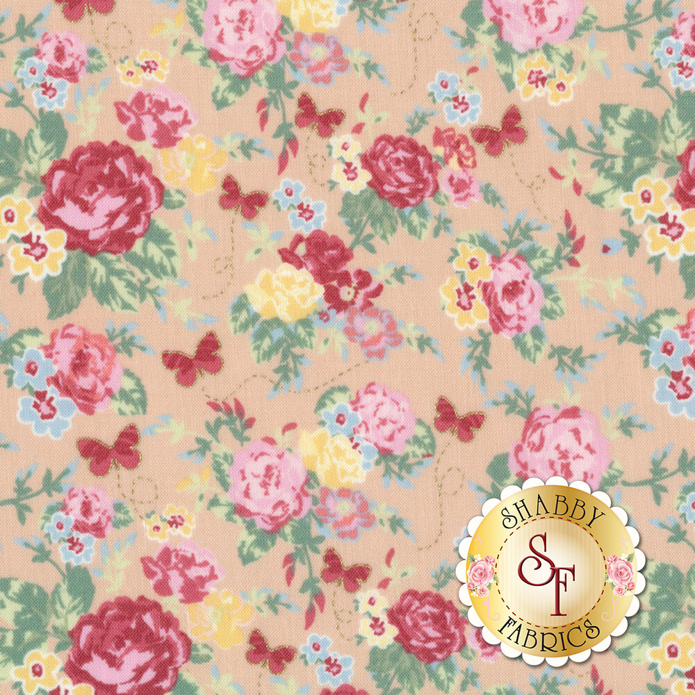 Woodland Rose 31800-12 for Lecien Fabrics