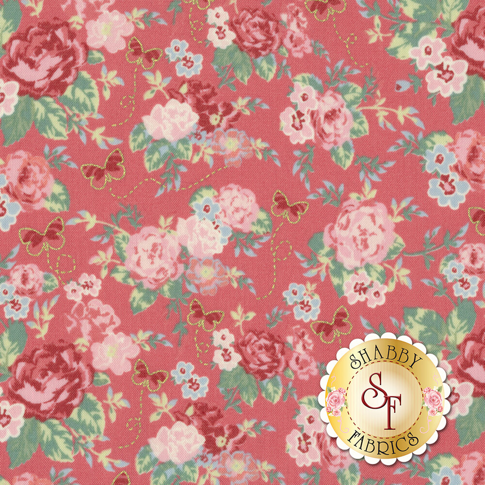 Woodland Rose 31800-20 for Lecien Fabrics