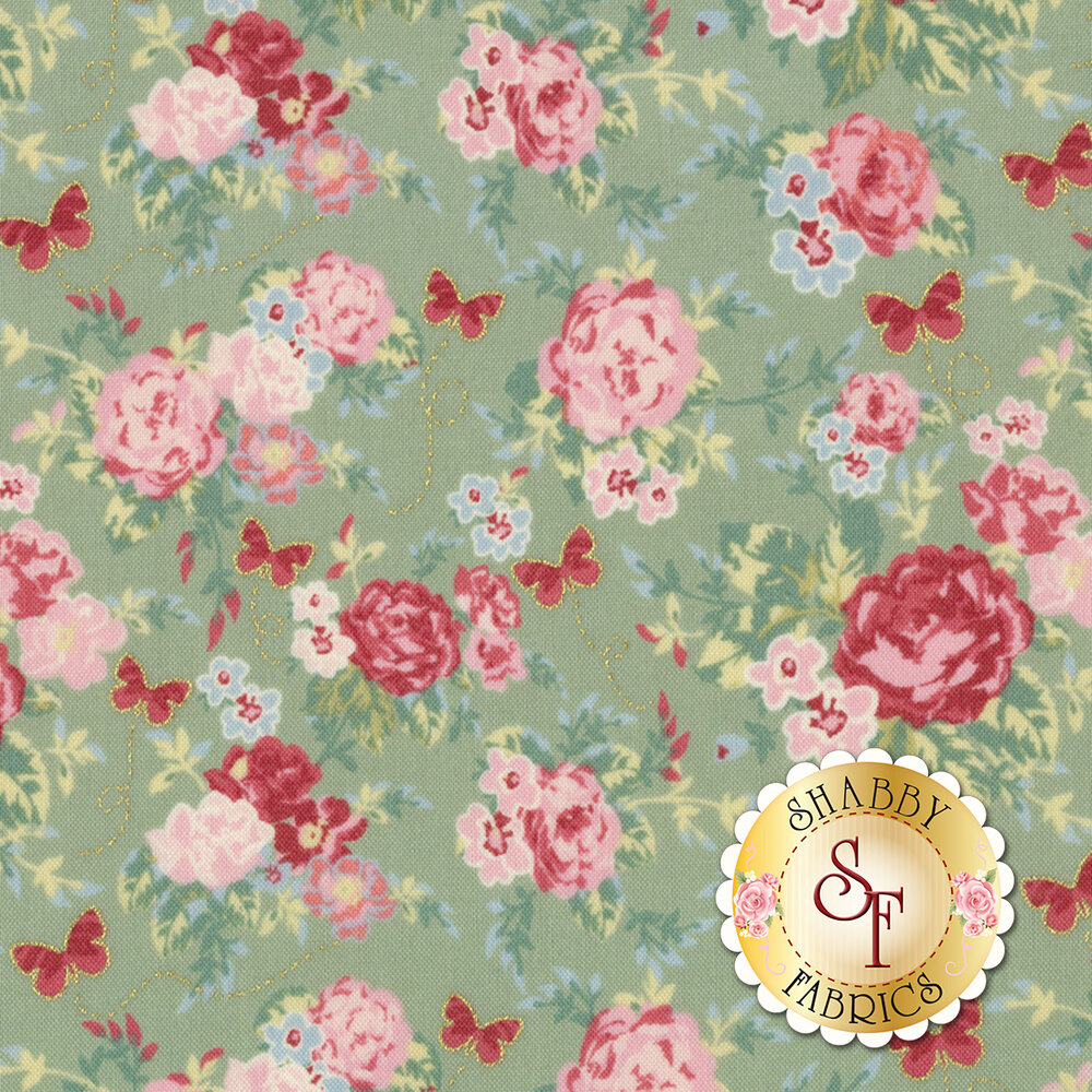Woodland Rose 31800-61 for Lecien Fabrics