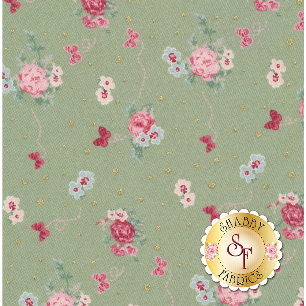 Woodland Rose 31801-60 for Lecien Fabrics