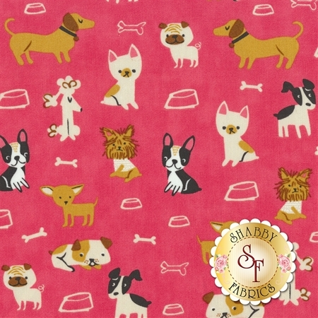 Woof Woof Meow 20562-19 by Moda Fabrics