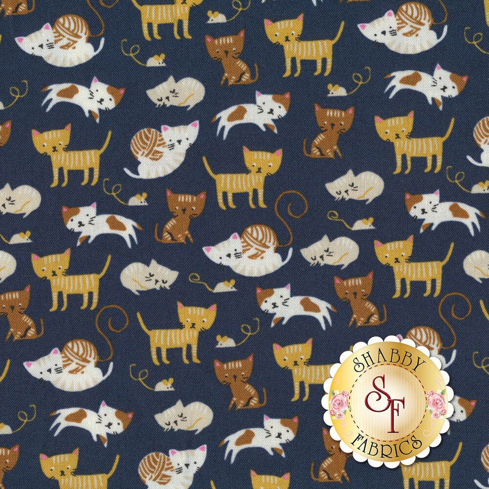 Woof Woof Meow 20564-17 by Moda Fabrics