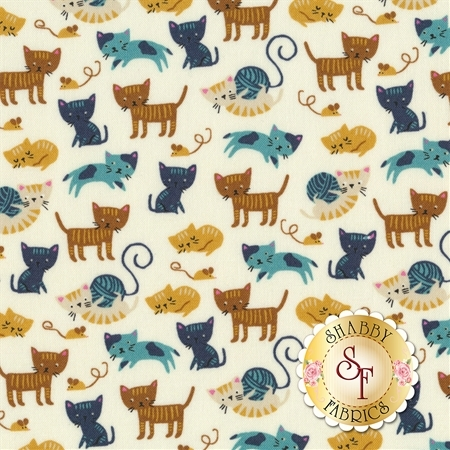 Woof Woof Meow 20564-21 by Moda Fabrics
